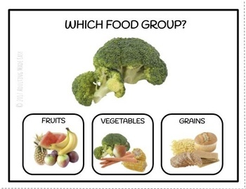 Which Food Group? Nutrition Life Skills Task Clip Cards Real Images