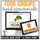 Which Food Group? Nutrition Digital Interactive Task Card Activities