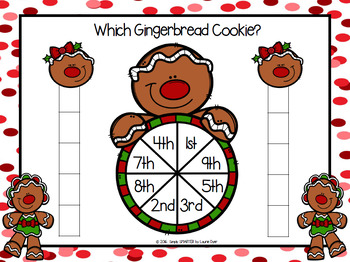 Which Gingerbread Cookie?:  NO PREP Ordinal Number Race to the Top Game