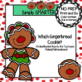 Which Gingerbread Cookie?:  NO PREP Ordinal Number Race to