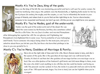 Which God or Goddess Are You? Greek Mythology Personality Quiz