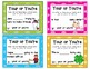 Which Is It? Scoot Task Cards for They're,There,Their, Its, It's, Your, & You're