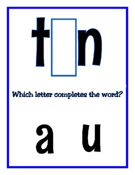 Which Letter Completes the Word? Over 50 - 3 Letter Words ~ 112 page e-book