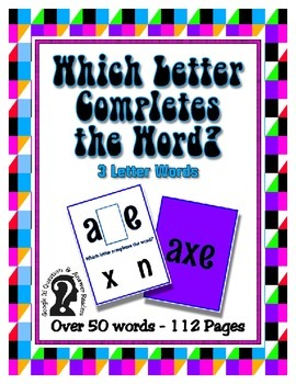Which Letter Completes the Word? Over 50 - 3 Letter Words