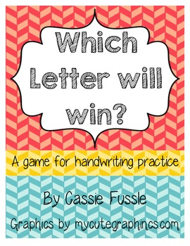Which Letter Will Win? {A game to practice handwriting}