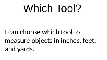 Which Measurement Tool?
