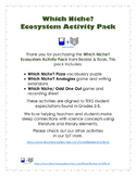 Which Niche? Ecosystem Activity Pack