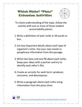 Which Niche? Ecosystem Activity Pack
