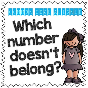 Which Number Doesn't Belong? CC Math Aligned Response