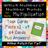 Which Numbers? Multiplication Number Bond Task Cards (CCSS Aligned)