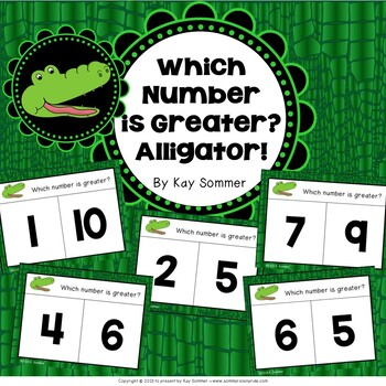 Comparing Numbers 0-10 {alligator themed}