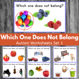 Which One Doesn`t Belong? Special Needs Worksheets Set 1
