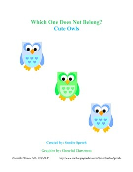 Which One Does Not Belong? Cute Owls