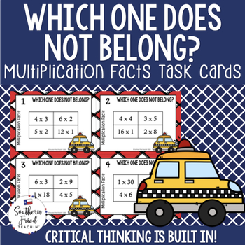 Multiplication Facts Scoot Game/Task Cards - Critical Thinking