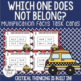 Multiplication Facts - Task Cards with Imbedded Critical Thinking