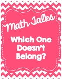Math Talks: Which One Doesn't Belong