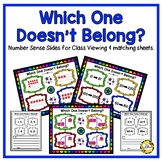 Which One Doesn't Belong (Math Open-Ended Questions/Number Talks)