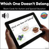 Which One Doesn't Belong BOOM CARDS™ Speech Therapy