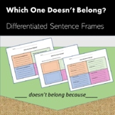 Which One Doesn't Belong - Differentiated Sentence Frames