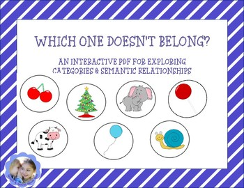 Which One Doesn't Belong? Interactive PDF For Categories/Semantic Relationships
