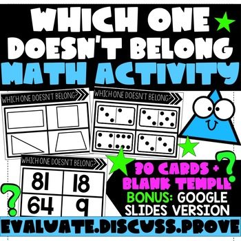 Which One Doesn't Belong? Math Activity
