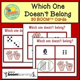 Which One Doesn't Belong Number Recognition BOOM Cards - D