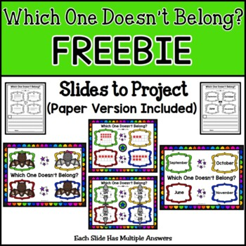 Which One Doesn't Belong (Number Talks) FREEBIE