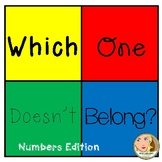 Which One Doesn't Belong - Numbers (Set #1)