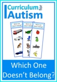 Categories Which One Doesn't Belong? Autism Special Education