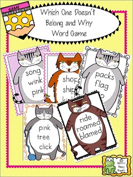 Word Work - Which One Doesn't Belong and Why Word Game