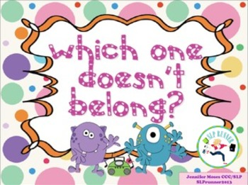 Which One Doesn't Belong?  Negation -  Receptive and Expressive Language