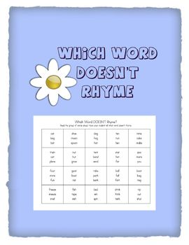 Which Word Doesn't Rhyme