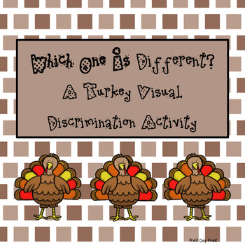 Which One is Different? A Turkey Visual Discrimination Activity