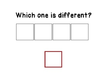 Which One is Different? Adapted Book for Children With Special Needs