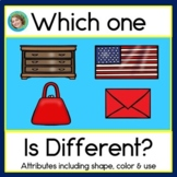 2D Shapes, Which One is Different?