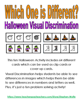 Which One is Different? - Halloween Visual Discrimination
