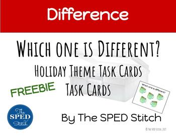 Which One is Different? Holiday Theme Task Cards