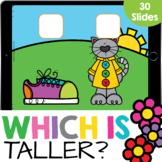 Which One is Taller? Measurement Math Google Slide Digital
