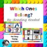 Which Ones Belong Boom Cards for Young Learners-No Reading