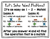 Which Operation?? Word Problems Anchor Chart Poster & Student Copies