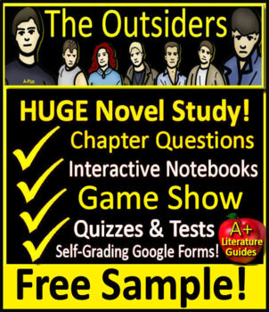 The Outsiders Novel Study Unit - FREE Sample!