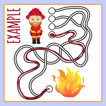 Which Path Leads to the End Maze Clip Art Set for Commercial Use