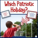 American Holidays     A Sorting Game