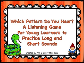 Which Pattern Do You Hear? A Listening Game to Practice Lo