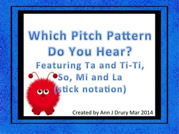 Which Pitch Pattern? A Game for Practicing Ta, Ti-Ti, So, Mi and La