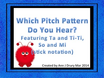 Which Pitch Pattern? A Listening Game for Practicing So and Mi