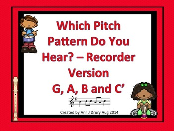 Which Pitch Pattern Do You Hear? Listening Game Recorder Edition G, A, B and C'