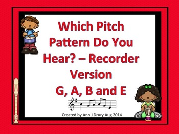 Which Pitch Pattern Do You Hear? Listening Game Recorder Edition G, A, B and E