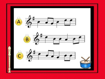 Which Pitch Pattern Do You Hear?  Listening Game for Recorder G, A, B, C' and D'