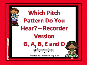 Which Pitch Pattern Do You Hear?  Listening Game for Recor